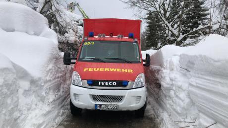 Die Rennertshofener Wehr war bei der Schneekatastrophe in den Alpen im Januar 2019 mit Fahrzeugen und Kräften im Raum Traunstein im Einsatz.