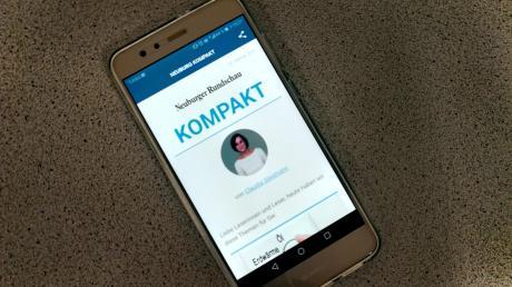 """Über unsere NewsApp erhalten Sie von Montag bis Freitag jeden Abend unseren lokalen Newsletter """"Neuburger Rundschau Kompakt""""."""