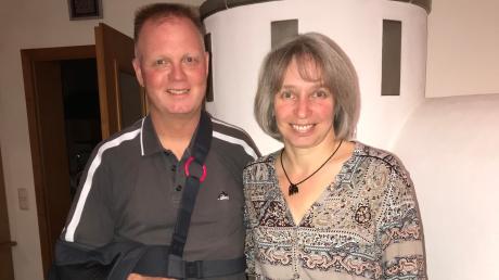 Michael Böhm freute sich zusammen mit seiner Frau Antje über das Wahlergebnis. Es wird seine zweite Amtsperiode.