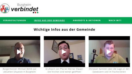 Auf der Plattform tauschen sich Bürger aus. Bürgermeister Michael Böhm und Pfarrer Werner Dippel haben schon Videos hochgeladen.