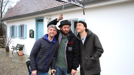 Andreas Weindl, Ulrich Nutz und Bastian Kellermeier (von links) sind die Woidboyz. Hier waren sie in Karlshuld unterwegs.