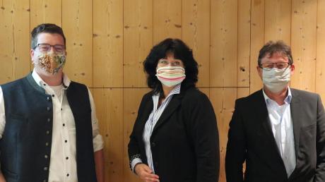 Bergheims Bürgermeister Tobias Gensberger mit seinen Stellvertretern Claudia Heinzmann und Thomas Bauer (von links).