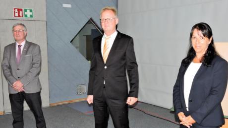 Dieses neue Bürgermeistertrio mit Andreas Flath, Michael Böhm und Margit Kugler (von links) ist jetzt im Amt.