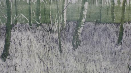"""Strukturen in der Natur wie hier die """"Schachtelhalme"""" sind die Lieblingsmotive der Künstlerin Susanne Pohl."""