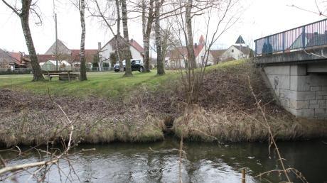 Auch an der Schreinerbrücke soll die Ach besser zugänglich werden.