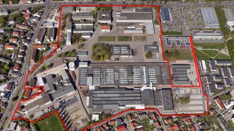 Auf diesem Areal im Nordosten Ingolstadts will die Düsseldorfer Gerchgroup ein neues Stadtviertel bauen. Auf der heutigen Industriebrache produzierten einst Rieter und Bäumler.