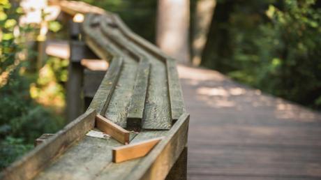 Die Waldkugelbahn begleitet die Spaziergänger vom Freizeitgelände am Himmelsgarten hinunter in die Stadt.