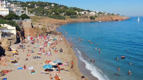 Die Mittelmeerstrände in Sète sind derzeit gut besucht - aber vorwiegend von Inlandstouristen.