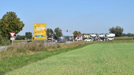 Von 14. bis 25. September ist die Zeller Kreuzung in Richtung Grünau und Bergheim bis zum Audi-Kreisel gesperrt.
