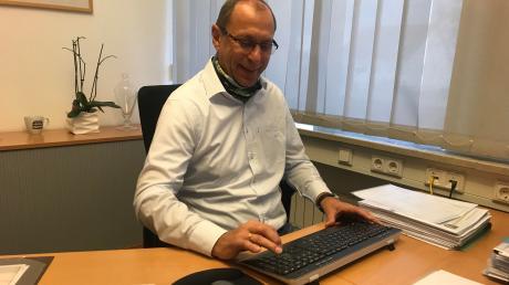 Heute wird er 60: Pünktlich um 7.15 Uhr sitzt Heinrich Seißler täglich in seinem Büro.