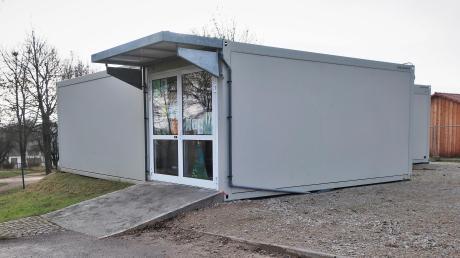 Zur Sicherheit der Kindergartengruppe im Container sollen die Fluchtwege optimiert werden.