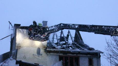 Als die Feuerwehr eintraf, brannte das Haus bereits lichterloh.