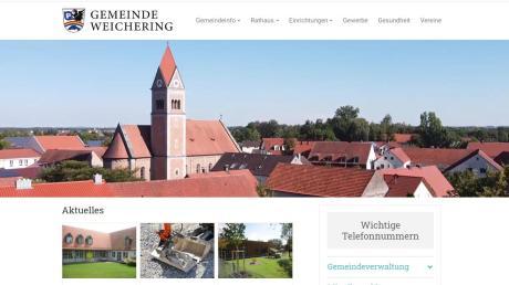 Im modernen Design präsentiert sich die Gemeinde Weichering seit Kurzem im Internet. Die alte Homepage hatte nach 20 Jahren ausgedient.
