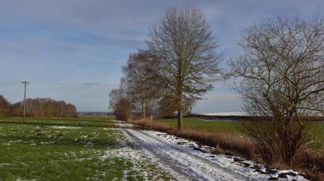 Vom Moosweg in Walda startet der geplante Radweg nach Schorn.
