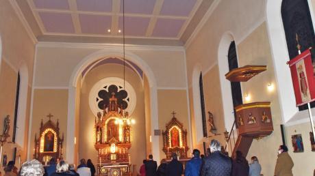 Zum Wiedereröffnungsgottesdienst war St. Ludwig weit geöffnet – wenn auch coronabedingt nur für geladene Gäste.
