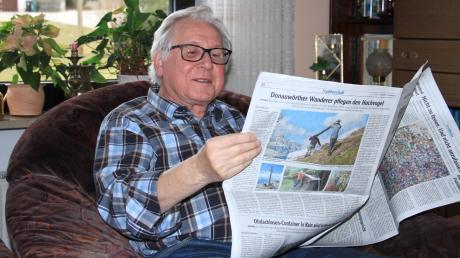 Alfred Ehrnstraßer ließt gerne und viel – auch die Zeitungen aus der Region.