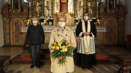 Marianne Hermann ist seit 30 Jahren die Pfarrsekretärin in der Pfarreiengemeinschaft Burgheim.