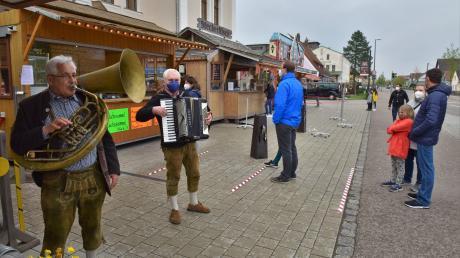 """D'Wuidsaureiter spielten beim """"Volksfest to go"""" in Karlshuld."""