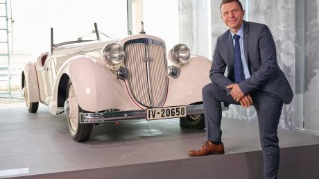 Stefan Trauf leitet seit 1. Januar Audi Tradition und ist damit Hüter der Geschichte des Automobilherstellers. Dazu gehören nicht nur Hunderte von Fahrzeugen aus einer 120- jährigen Unternehmensgeschichte.