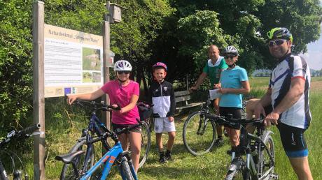 Familie Exner aus Burgheim unternahm vergangenes Jahr einen Radausflug an Christi Himmelfahrt. Die Route gab der Radfahrerverein Burgheim vor.  In diesem Jahr hat der Verein drei unterschiedliche Touren rund um Burgheim zusammengestellt.