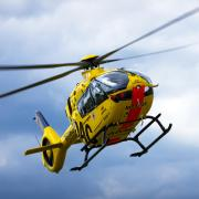 Das bei einem Unfall in Kaufering verletzte Mädchen wurde mit einem Rettungshubschrauber in eine Klinik geflogen.