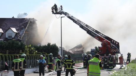 In Rohrbach an der Ilm starb ein Mensch bei der Explosion eines Hauses.
