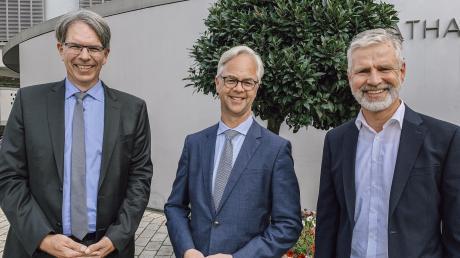 An der Spitze des Klinikums Ingolstadt stehen künftig drei Geschäftsführer (von links): Jochen Bocklet (Finanzen und Infrastruktur), Nicolai Kranz (Personal und Organisation) und Andreas Tiete (Medizin und Pflege).