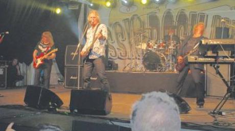 """The """"Sweet"""" in Wechingen. Allerdings ist von der ursprünglichen Besetzung nur noch Gitarrist Andy Scott übrig."""