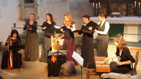 """Das """"Tiburtina Ensemble"""" aus Prag trat in der Klosterkirche Auhausen auf."""