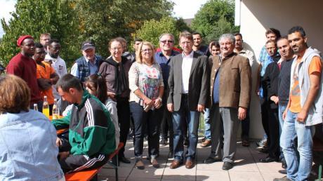 In Amerdingen feierten Bürger und Asylbewerber am Wochenende ein Kennenlern-Fest.