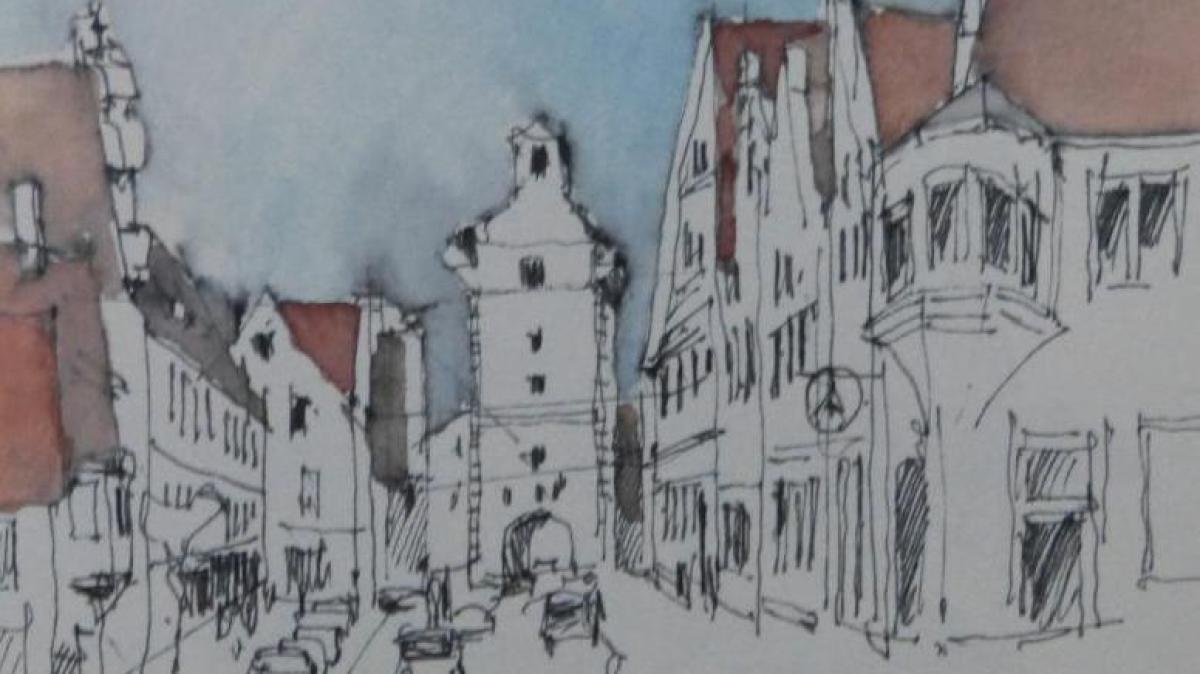 Diehm Aschaffenburg kunst stadtbummel mit pinsel und feder nachrichten nördlingen