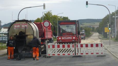 Die B25 wird in drei Abschnitten umgebaut.