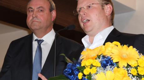 Thomas Häfele (rechts) wird Gerd Dannenmann als Bürgermeister von Neresheim nachfolgen.