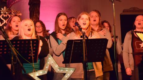 Die Soulteens Oettingen erhielten bei ihrem Jubiläumskonzert in der Wechinger St. Moritz-Kirche viel Applaus.