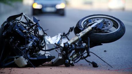 Ein Motorradfahrer hatte bei Bopfingen einen Unfall.
