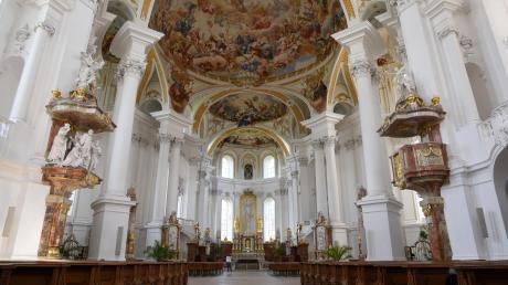 Die Abteikirche des Neresheimer Klosters ist wieder geöffnet.