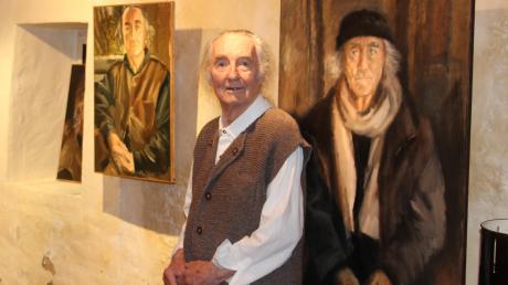 Günther Holzhey: Sein Freund Hennes Ruißing porträtierte ihn immer wieder. Die Bilder sind bis zum 30. Mai zu sehen.