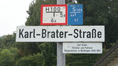 Karl Brater war Bürgermeister der Stadt Nördlingen. Er wurde einstimmig in das Amt gewählt. Hintergründe zum Straßennamen wurden jüngst in einem Vortrag diskutiert.