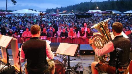 So sah es 2018 auf dem Blasius aus – heute startet die nächste Auflage des Blasmusik-Festivals.