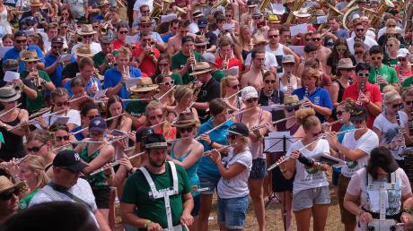 Ein Höhepunkt des Blasius-Festivals war der Gemeinschaftschor am Samstagnachmittag, bei dem Landrat Stefan Rößle dirigierte.