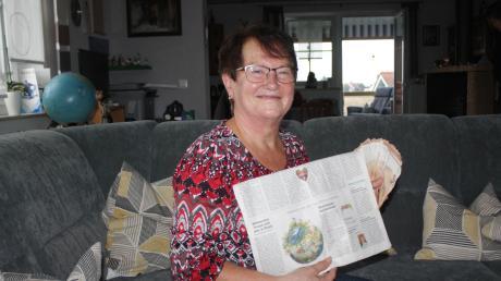 """Gertrud Wolf erriet beim Gewinnspiel unserer Zeitung den Begriff """"Blumenerde"""" und gewann 1000 Euro."""