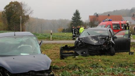 Im Nordries hat sich einen schwerer Verkehrsunfall ereignet.