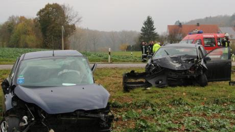 Zwischen Oettingen und Ehingen am Ries ereignete sich ein schwerer Unfall.