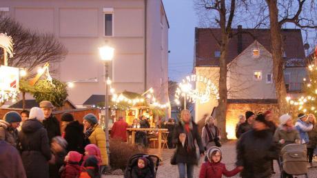 Auch ohne Schnee ist der Christkindlesmarkt im Museumshof jedes Jahr gut besucht. Besonders für Familien mit Kindern ist viel geboten.