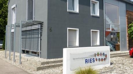 Das Gebäude der VG Ries in Nördlingen während der Renovierung.