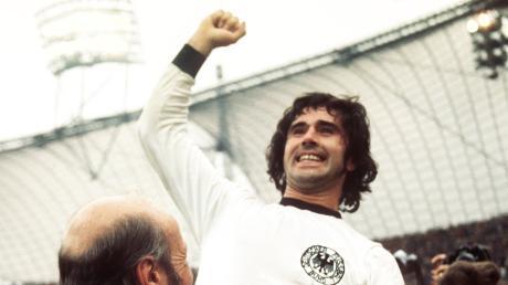 Mit der Nationalmannschaft wurde Gerd Müller 1974 Weltmeister.