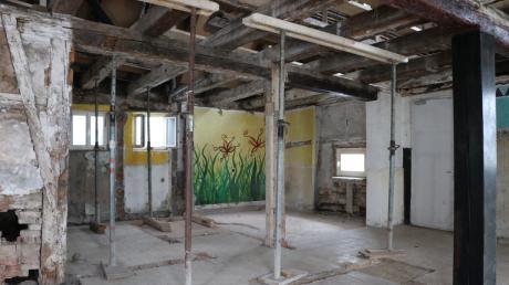 """So sieht es derzeit in der ehemaligen """"Plauderecke"""" aus. Der Innenraum soll im neuen Jahr renoviert werden."""
