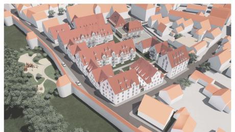 So sieht die derzeitige Planung für das Egerviertel aus der Vogelperspektive aus.