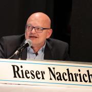 Podiumsdiskussion in Nördlingen. Zeitnehmer war Sportredakteur Robert Milde.