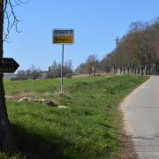 """Bei den beliebten Spazierwegen wie hier am Astrolehrpfad bei Oettingen müssen Hunde aufgrund der bei Füchsen aufgetretenen """"Staupe"""" unabdingbar angeleint werden."""